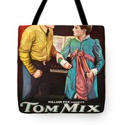 Tom Mix In The Feud 1919 Tote Bag