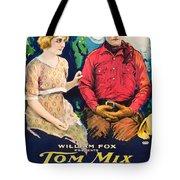 Tom Mix In Treat'em Rough 1919 Tote Bag