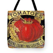 Tomato Can Label Tote Bag
