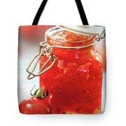 Tomato Jam In Glass Jar Tote Bag