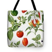 Tomatoes And Related Vegetables Tote Bag