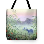 Tomatoes In The Mist Tote Bag