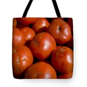 Tomatoes Sit In The Sun Awaiting Buyers Tote Bag