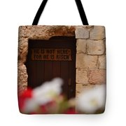 Tomb Of Jesus Tote Bag