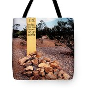 Tombstone Boot Hill Tote Bag