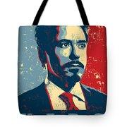 Tony Stark Tote Bag by Caio Caldas
