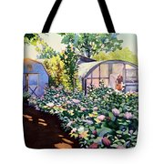 Tool Shed And The Greenhouse Tote Bag