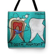 Tooth Anatomy Tote Bag