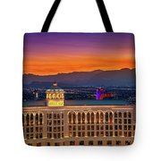 Top Of The Bellagio After Sunset Tote Bag