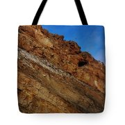 Top Of The Cliff Tote Bag