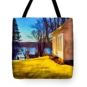 Top Of The Hill, Friendship, Maine Tote Bag
