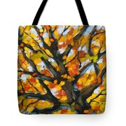 Top Of The Maples Tote Bag