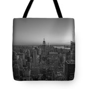 Top Of The Rock At Sunset Bw Tote Bag