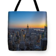Top Of The Rock At Sunset Tote Bag