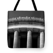 Top Portion Of A Lincoln Memorial Old Greek Architecture Tote Bag