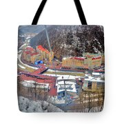 Top View. Krasnaya Polyana. Tote Bag