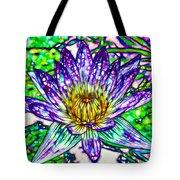 Top View Of A Beautiful Purple Lotus Tote Bag