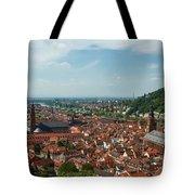 Top View Of Heidelberg, Germany. Tote Bag