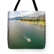 Top View Of English Bay In Summer, Vancouver Bc. Tote Bag