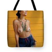 topless Black Hmong 2 Tote Bag