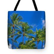 Tops Of Palms Tote Bag