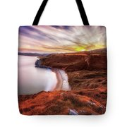 Tor Bay Sunset Tote Bag