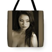 Toriwaits Nude Fine Art Print Photograph In Black And White 5099.01 Tote Bag