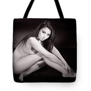 Toriwaits Nude Fine Art Print Photograph In Black And White 5110 Tote Bag