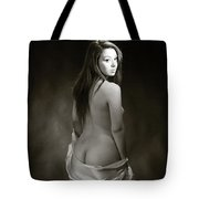 Toriwaits Nude Fine Art Print Photograph In Black And White 5116 Tote Bag