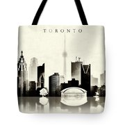 Toronto Black And White Tote Bag