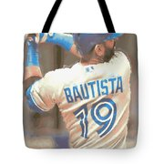 Toronto Blue Jays Jose Bautista 2 Tote Bag