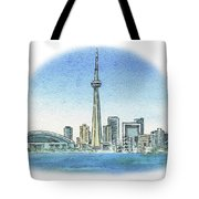 Toronto Canada City Skyline Tote Bag