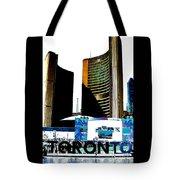 Toronto City Hall Graphic Poster Tote Bag