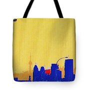 Toronto Lemon Skyline Tote Bag