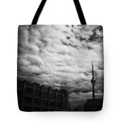 Toronto Morning Black And White Tote Bag