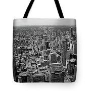 Toronto Ontario Scrapers In Black And White Tote Bag