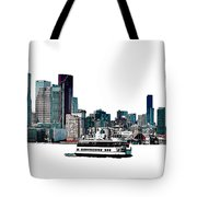 Toronto Portlands Skyline With Island Ferry Tote Bag