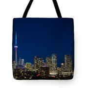 Toronto Skyline And World Pride Tote Bag