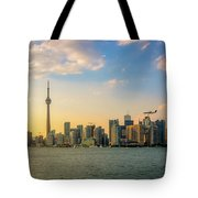 Toronto Skyline At Sunset Tote Bag