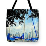 Toronto Through A Forest Of Masts Tote Bag