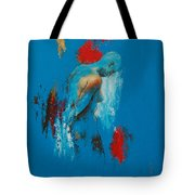 Torso In Blue Tote Bag