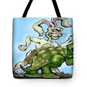 Tortoise And The Hare Tote Bag