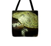 Turtle With A Tale To Tell Tote Bag