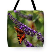 Tortoiseshell Butterfly On Lavender Tote Bag