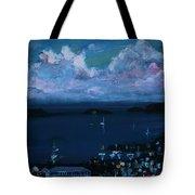 Tortola Clouds At Hill Top Tote Bag