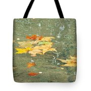 Tossed Leaves Tote Bag by JAMART Photography