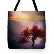 Total Eclipse Of The Sun Tree Art Tote Bag