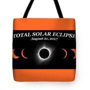 Total Solar Eclipse Stages Tote Bag