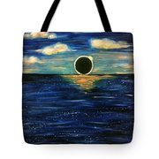 Totality On The Sea - Solar Eclipse  Tote Bag