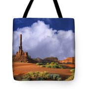 Totem Pole Monument Valley Tote Bag